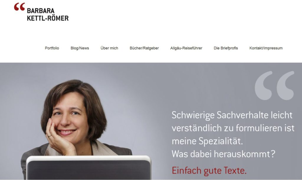 Sartseite der Website kettl-roemer.de